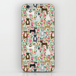 Pitbull florals mixed coats pibble gifts dog breed must have pitbulls florals iPhone Skin