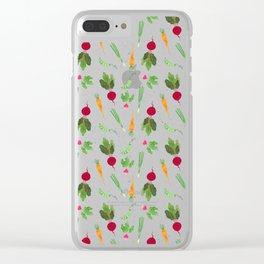 Eat more veggies! Dark version Clear iPhone Case