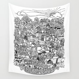Southside Slopes, Pittsburgh, PA Wall Tapestry