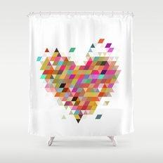 Heart1 White Shower Curtain