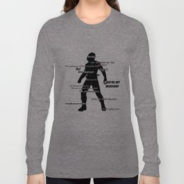 Bucky Barnes Quotes Long Sleeve T-shirt