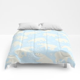 Polar Bear Snow Flake Pattern Comforters