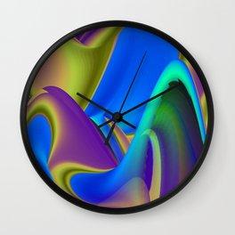 pastel Abstract Rainbowart 6 Wall Clock