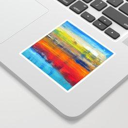 Horizon Blue Orange Red Abstract Art Sticker