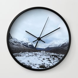 World turns. Scottish Highlands Wall Clock