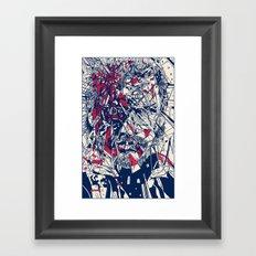 Demon Reflection Framed Art Print
