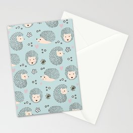 So Many Happy Little Hedgehogs To Hug Pattern Stationery Cards