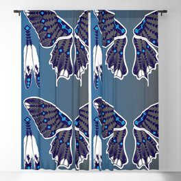 Butterfly Nation Blue Blackout Curtain