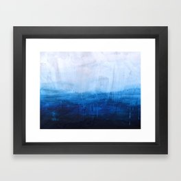 All good things are wild and free - Ocean Ombre Painting Framed Art Print