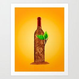 Eco-friendly Wine Illustration Art Print