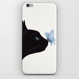Cat and Butterfly iPhone Skin