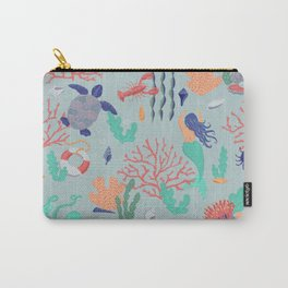 Underwater Mermaids and Coral Carry-All Pouch