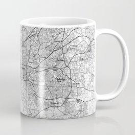 Atlanta Georgia Map (1981) BW Coffee Mug