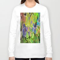 succulent Long Sleeve T-shirts featuring succulent fantasy by  Agostino Lo Coco
