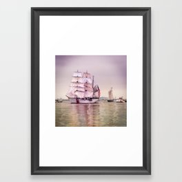 Tall Ships in Boston -USCG Framed Art Print