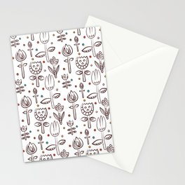 Pattern in Nordic Floral Style #4 Stationery Cards