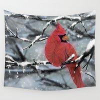 cardinal Wall Tapestries featuring Cardinal by Ben Geiger