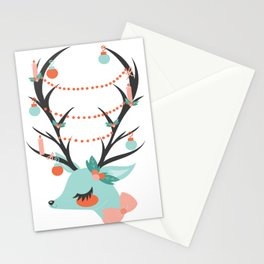 Retro Reindeer Stationery Cards