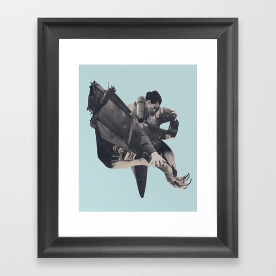 The Rushing Fog Framed Art Print