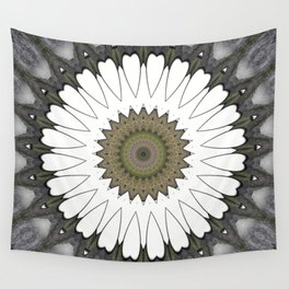 Mandala of everyday love with hearts and Cupid arrows Wall Tapestry