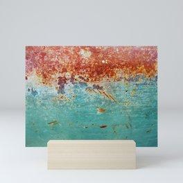 Teal Rust Mini Art Print