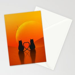 Cats in Love Stationery Cards