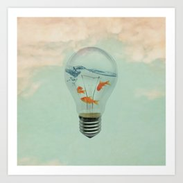 Ideas and Goldfish (RM) Art Print