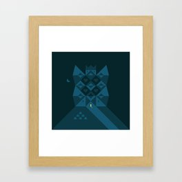 My home is my castle Framed Art Print