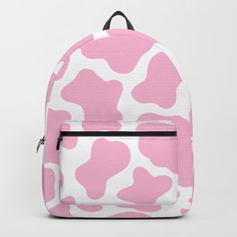 Pink Cow Print Backpack