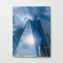 Stunning view of One World Trade Center in New York City Metal Print