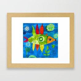 FISH2 Framed Art Print