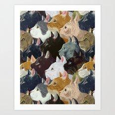 Never ending cats Art Print