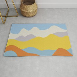 Over The Sunset Mountains Rug