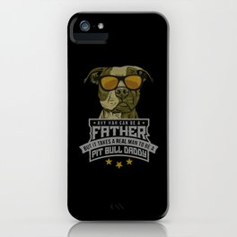 pit bull daddy iPhone Case