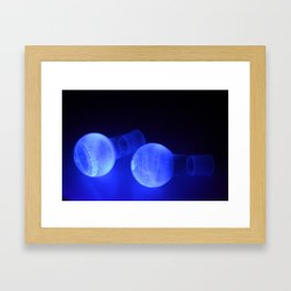 Fluorescent round bottomed flasks Framed Art Print
