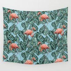 Whimsical Flamingo Pattern #society6 #decor #buyart Wall Tapestry