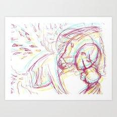 Goodbye Kiss Art Print