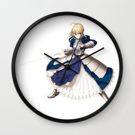Fate/stay Night - Saber Wall Clock