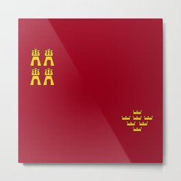 Murcia region flag spain province Metal Print