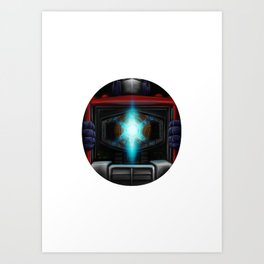 Geek letter O Art Print