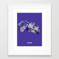 transformers Framed Art Prints featuring Transformers - Megatron by Evan DeCiren