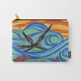 The ocean, waves, birds, and fishes Carry-All Pouch