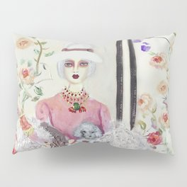 """ lily and rose love flowers"" Pillow Sham"