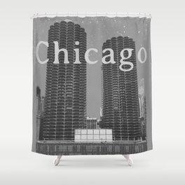 Chicago: Marina City Towers Shower Curtain