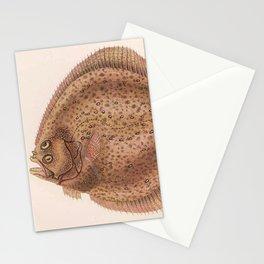 Vintage Flounder Fish Illustration (1919) Stationery Cards