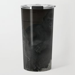 Gorilla Mother Has Her Cheeky Son By The Scruff Of His Neck Travel Mug