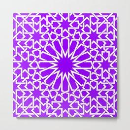 Moroccan Pattern 4 Purple Metal Print