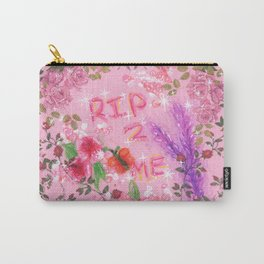 RIP 2 ME - Glitchy Floral Wreath Drawing Carry-All Pouch