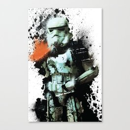 """Sandtrooper"" Splatter Art Canvas Print"