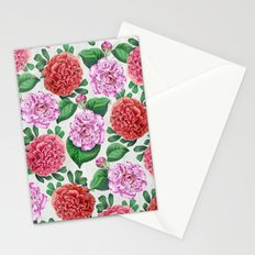 Camellia and Peonia pattern Stationery Cards